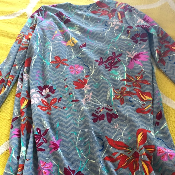 LuLaRoe Sweaters - Gray and floral Sarah